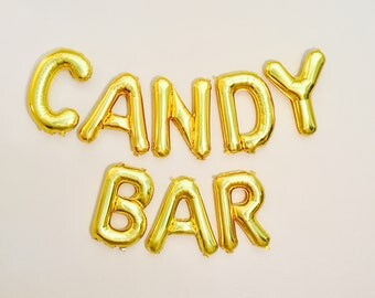 Candy Bar Balloons, Candy Bar Banner, Candy Bar Decoration, Candy Station, Sweets Table, Candy Theme, Candy Party,Candy Decoration,Candy Bar