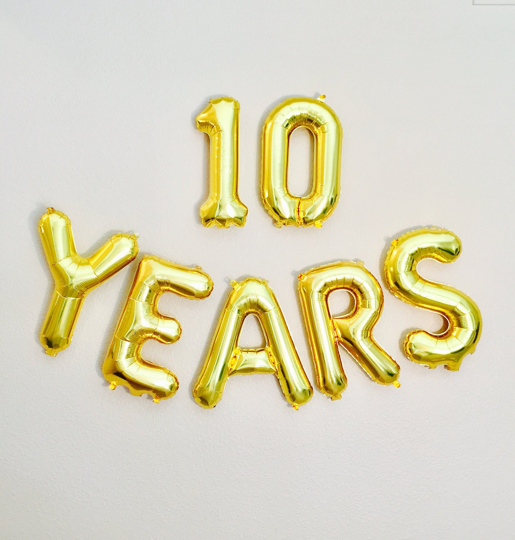 10 YEARS Balloon, 10 Years On The Job, 10th Anniversary