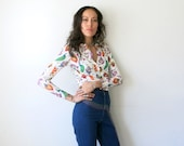 Tati Compton X Rusty Cuts Dragon Slayer Button Up Shirt / Disco Flash Blouse Sz XS S M L