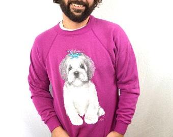 Vintage 90s Puppy Dog Cute Sweatshirt