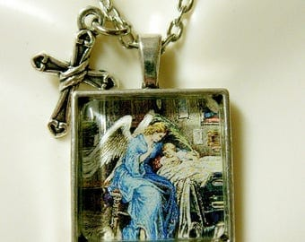 Guardian angel pendant and chain - AP28-031