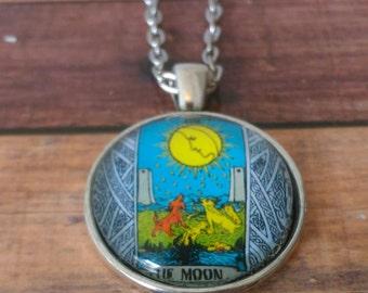 Tarot Card Necklace -- The Moon