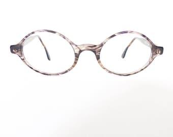 90s Emporio Armani Oval Eyeglasses Frames Unisex Vintage 1990's Grey Tortoiseshell Made in Italy #M873 (EB)