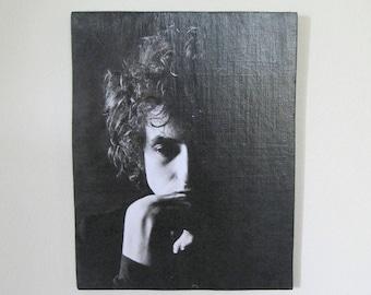 Bob Dylan Vintage print wall art / Hippie Bohemian home decor / Musician print wall decor