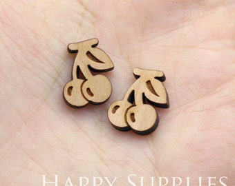 4pcs (SWC251) DIY Laser Cut Wooden Grape Charms
