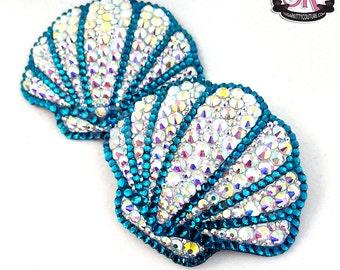 Sea Shell Rhinestone Nipple Pasties - SugarKitty Couture