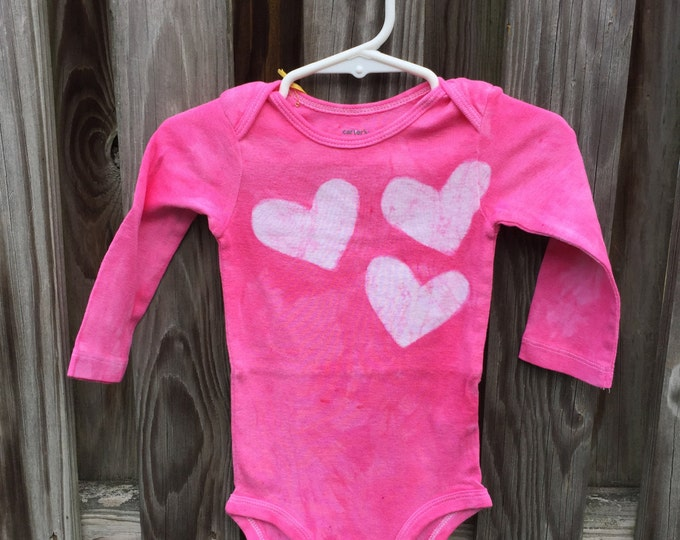 Valentines Day Baby Bodysuit, Pink Baby Bodysuit, Heart Baby Bodysuit, Baby Girl Valentines Day Shirt, Pink Baby Girl Gift (12 months)