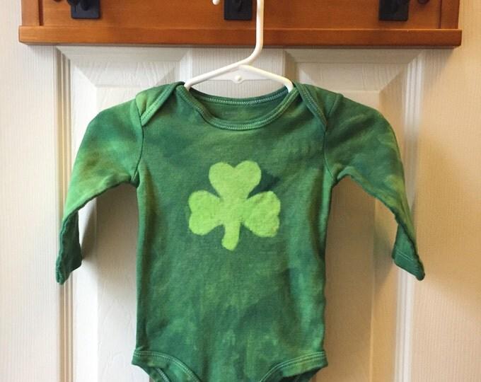 St. Patrick's Day Baby Bodysuit, Green Shamrock Baby Bodysuit, Baby Shamrock Bodysuit, Irish Baby Gift (6 months)