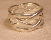 Thick Woven Sterling Band  925 Jewelry Sterling Jewelry 925 Ring Thick Sterling Band Modern Ring Modern Sterling Band