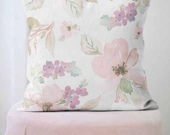 floral pillow cover spring decor flower decor throw pillow the lucille