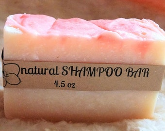 Subtle Strawberry Shampoo Bar &/or Conditioner -Natural Solid Shampoo-Vegan-Great Lather