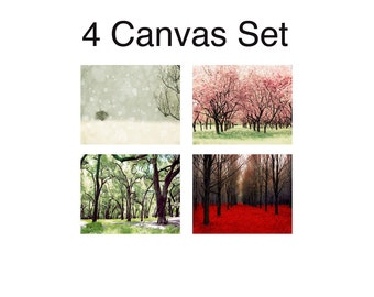 SALE, 4 Seasons Wall Art - Canvas Wall Art - Four Seasons Art - 4 Seasons Tree - Four Seasons Wall Art