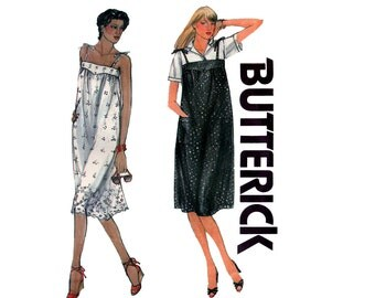 80s Tent Dress Jumper Sundress pattern Butterick 3722 Vintage Sewing Pattern Size 8 10 12 UNCUT Factory Folds