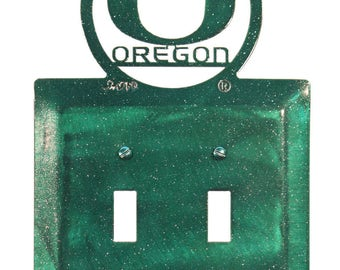 Oregon Ducks Light Switch Double Plate Cover
