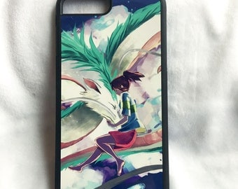 Printed iPhone and Samsung phone case - Haku and Chihiro Spirited Away
