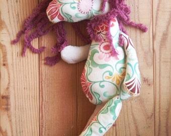 Unicorn -handmade fabric doll- cloth doll- OOAK
