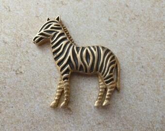 Gold and Black Zebra Magnet - OOAK