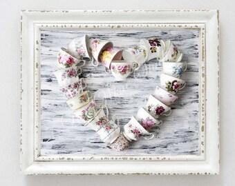 Digital download #9 - Teacup heart, wall art print
