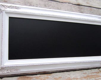 """FANCY CHALKBOARDS For Sale Wedding Framed Chalkboard Decor Decorations - 44""""x 20"""" Long Narrow Signage Unique Newlywed Gift New Home Gift"""