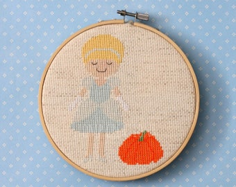 Cinderella cross stitch pattern - cross stitch pdf pattern, fairy tale cross stitch, story pattern -INSTANT DOWNLOAD