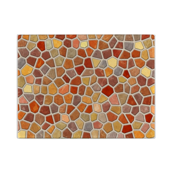 Decorative Glass Cutting Board Faux Mosaic Cuttingboard