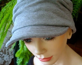 womens soft hat newsboy grey winter peak cap chemo soft hat