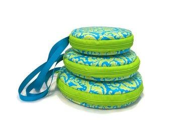 Neon Macaron Wristlet Clutch Wallet Large Medium Small or Kit - The Jacqualine