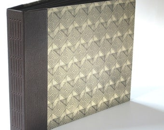 Photo Album Scrapbook - Leather and Paper