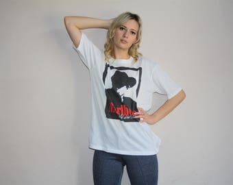 Vintage 1980s Marlboro Graphic Paper Thin 50 50 Poly Cotton T Shirt - 80s Clothing - WV0073