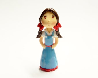 Cold Porcelain Dorothy Figurine, Dorothy Cake Topper, Wizard of Oz Cake Topper, Dorothy Ornament, Decor, Keepsake, Wizard of Oz Fan Gift