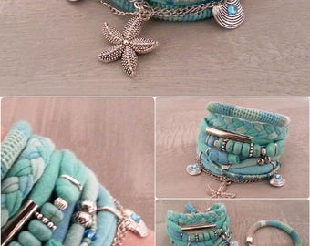Best Seller Turquoise Boho Bracelet Gypsy Bracelet Seafoam Bohemian Bracelet Boho Bracelet Set Beach Style Turquoise Jewelry Sea Star Charm