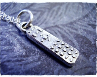 Silver TV Remote Necklace - Sterling Silver TV Remote Charm on a Delicate Sterling Silver Cable Chain or Charm Only