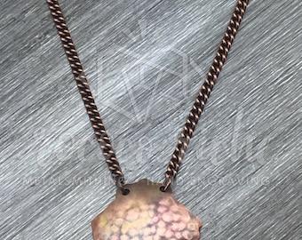 Mermaid Necklace – Seashell Pendant Necklace – Seashell Jewelry – Mermaid Jewelry – Beach Life – Handmade Copper Necklace – Beach Jewelry