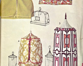 Vintage Home Dec Pattern for Bird Cage Covers and Seed Guard  ADVANCE 720  Rare, Out of Print Pattern Circa 1960's UNCUT, Factory-Folded