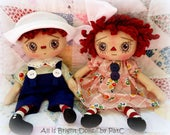 Primitive Raggedy Dolls - Annie and Andy