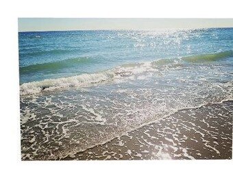 Large  Canvas, Beach Wall Decor, Blues, Ocean Wall Art, Chic Office, Coastal Print, Bedroom Decor, Nautical Decor, Cottage Art, Beach Canvas