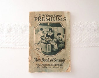 1920s catalog S & H Green Stamps catalogue booklet pamphlet 1924 - 1925