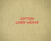 Flaxen Brown, Linen Woven Cotton, Craft or Fashion Fabric, Medium Weight, half yard, B34