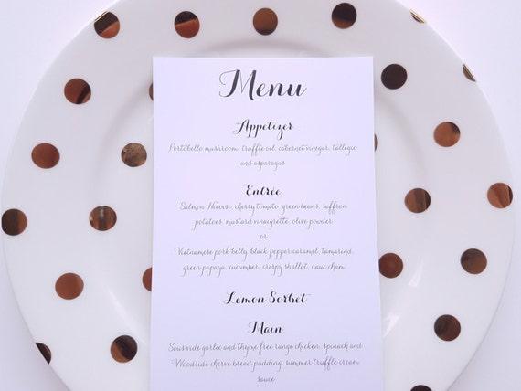 TABLE MENUS   Wedding, Engagement, Beverage, Minimalist, Modern, Monochrome, Simple, Typography, Calligraphy
