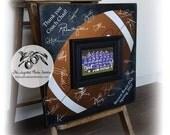 Football Coach Gift, Football Guest Book, Signature Frame, Baseball Coach Gift, Volleyball Coach Gift, Basketball Coach Gift 16x16