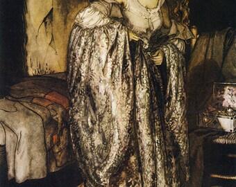 True Sweetheart,  Arthur Rackham, Vinatge Art Print