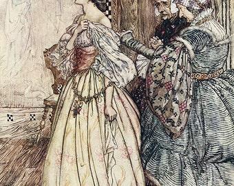 Birthmark Like a Violet, Arthur Rackham, Vinatge Art Print