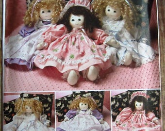 21 inch Stuffed Doll and Clothes Faith Van Zanten Simplicity Pattern 2462
