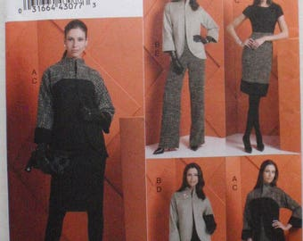 Women's Sewing Pattern - Jacket, Dress, Skirt and Pants - Vogue 8606 - Five Easy Pieces - Sizes 6-8-10-12, Bust 30 1/2 - 34, Uncut