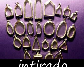Terrarium Jewelry, Terrarium Necklace, Shadow Box, Diorama, Clear Locket, Empty Container, Amulet Cases, Silver tone, Mementos, 25pcs