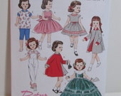"""1950's Retro Doll Clothes Pattern, Butterick B5865, Retro style outfits , fits 18""""  Doll,"""