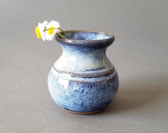 Little Mother Pot for Wee Flowers Miniature Handmade Pottery Blue EACH ONE UNIQUE
