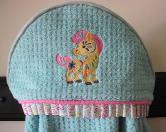 NEW bohemian print pony hooded towel child bath towel many colors available baby shower gift birthday gift