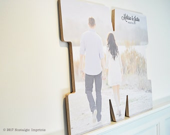 Wedding photo guest book, Large Wood Letter, Unique Wedding Guest Book Alternatives, gb0074