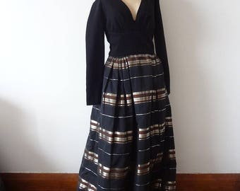 Vintage Pauline Trigere Evening Gown - NOS vintage silk and wool formal dress - red carpet - size M